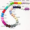 12мм (конфетти) круглая, силиконовая бусина, фото 4