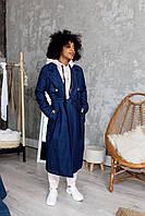 Тренч джинсовый темно-синего цвета Udler, фото 1