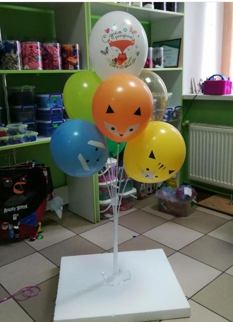 Підставка тримач для кульок настільна висота 90см