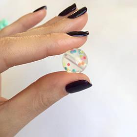 12мм (конфетти) круглая, силиконовая бусина