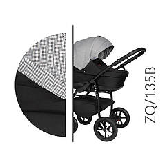 Коляска Baby Merc ZQ/135B серая/черная