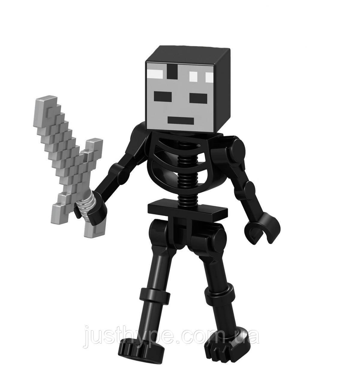 Человечки Minecraft Скелет иссушитель  Код 90-234