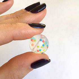 15мм (конфетти) круглая, силиконовая бусина