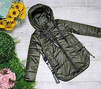 Куртка для девочки осень  весна код 2077  размеры на рост от 122 до 146 возраст от 6 лет и старше, фото 1