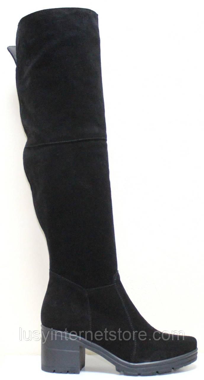 Ботфорты демисезонные женские на каблуке от производителя модель СТС55Д