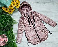 Куртка для девочки осень  весна код 2077  размеры на рост от 122 до 146 возраст от 6 лет и старше