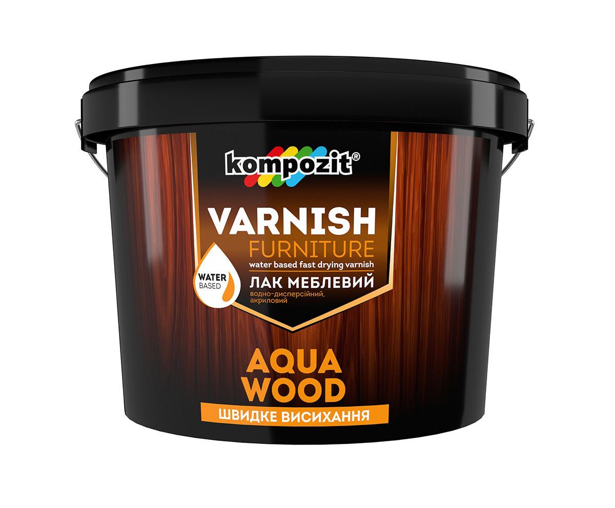 Лак мебельный Kompozit AQUA WOOD ( 2.5 л) Глянцевый