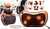 Массажная Подушка MASSAGE PILLOW QY-8028 Инфракрасный роликовий массажер для шеи и спины Коричневая, фото 8