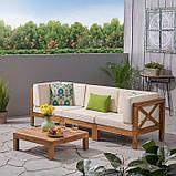 Набор садовой мебели из 4 секций с подушками, фото 10