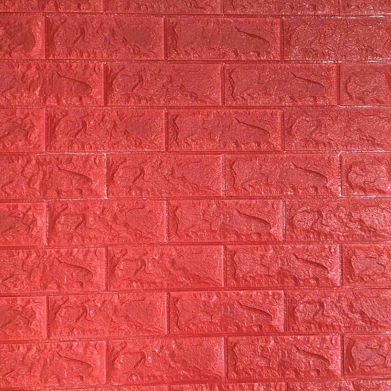 3д панель стіновий декоративний Цегла Червона (самоклеючі 3d панелі для стін оригінал) 700x770x7 мм