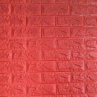 3д панель стіновий декоративний Цегла Червона (самоклеючі 3d панелі для стін оригінал) 700x770x7 мм, фото 1