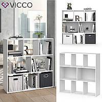 Vicco разделить комнаты Arya, книжный шкаф, 8 полок, 107x108, цвет белый