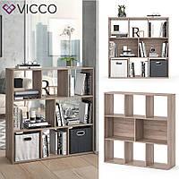 Vicco разделить комнаты Arya, книжный шкаф, 8 полок, 107x108, цвет сонома