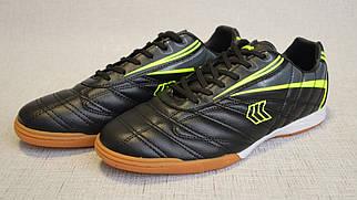 Кроссовки для игры в футбол (футзалки) Restime DMB20616 чёрно-жёлтые
