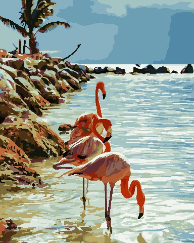 Живопись по номерам Фламинго ArtStory AS0740 40 х 50 см