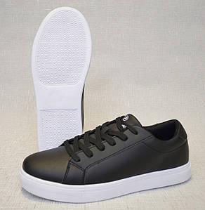 Кроссовки Restime PMB20207 чёрные с белой подошвой