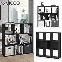Vicco разделить комнаты Arya, книжный шкаф, 8 полок, 107x108, цвет черный