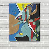 Абстрактная картина в стиле ню Декорация стен Настенный декор Цветная картина Геометрический рисунок