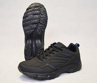 Кросівки з нубука Restime PMO19502 чорні з синіми вставками