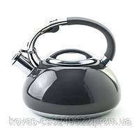 Чайник со свистком EDENBERG 3л, цвета:черный,бордо,бежевый, синий, фото 4