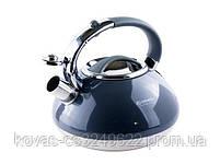 Чайник со свистком EDENBERG 3л, цвета:черный,бордо,бежевый, синий, фото 6