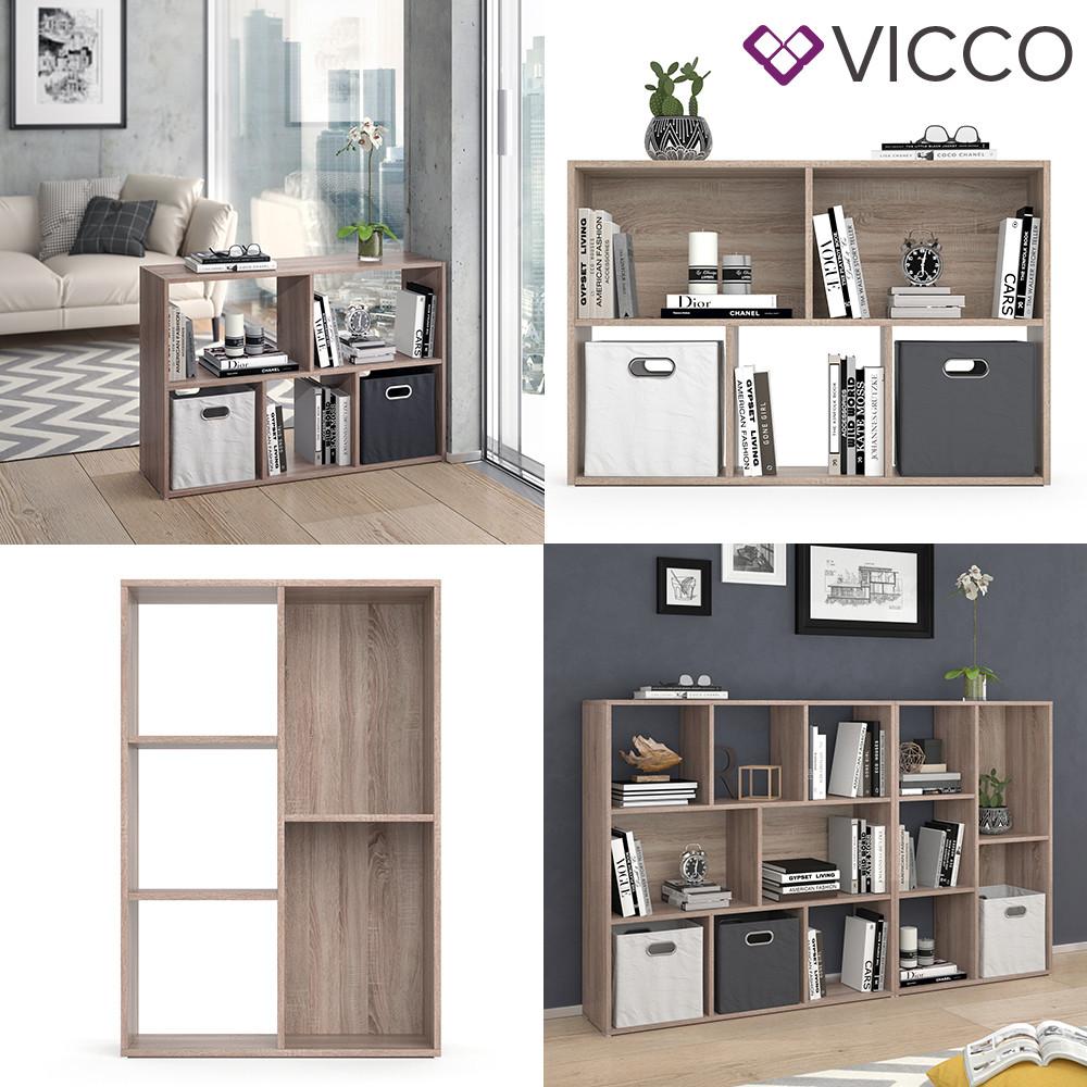 Vicco разделить комнаты Arya, книжный шкаф 5 полок, 72x108, цвет сонома