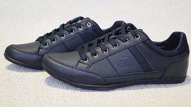 Кроссовки кожаные Restime PMB19337 синие, фото 2
