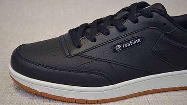 Кросівки з натуральної шкіри Restime PMO19827 сині, фото 2