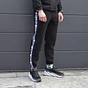 Зимние спортивные штаны мужские чёрные Фила Fila, размер М, фото 2