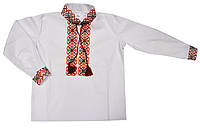 Вышиванка Монохром детская для мальчика 116, белый