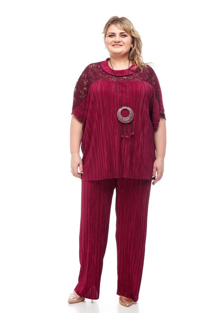 Яркий женский костюм батал Флер 3 цвета (64-74)