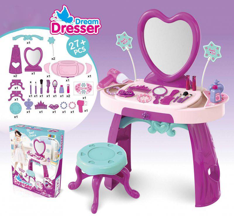 Детское трюмо с креслом Dream Dresser 8135 27 ел для маленьких модниц
