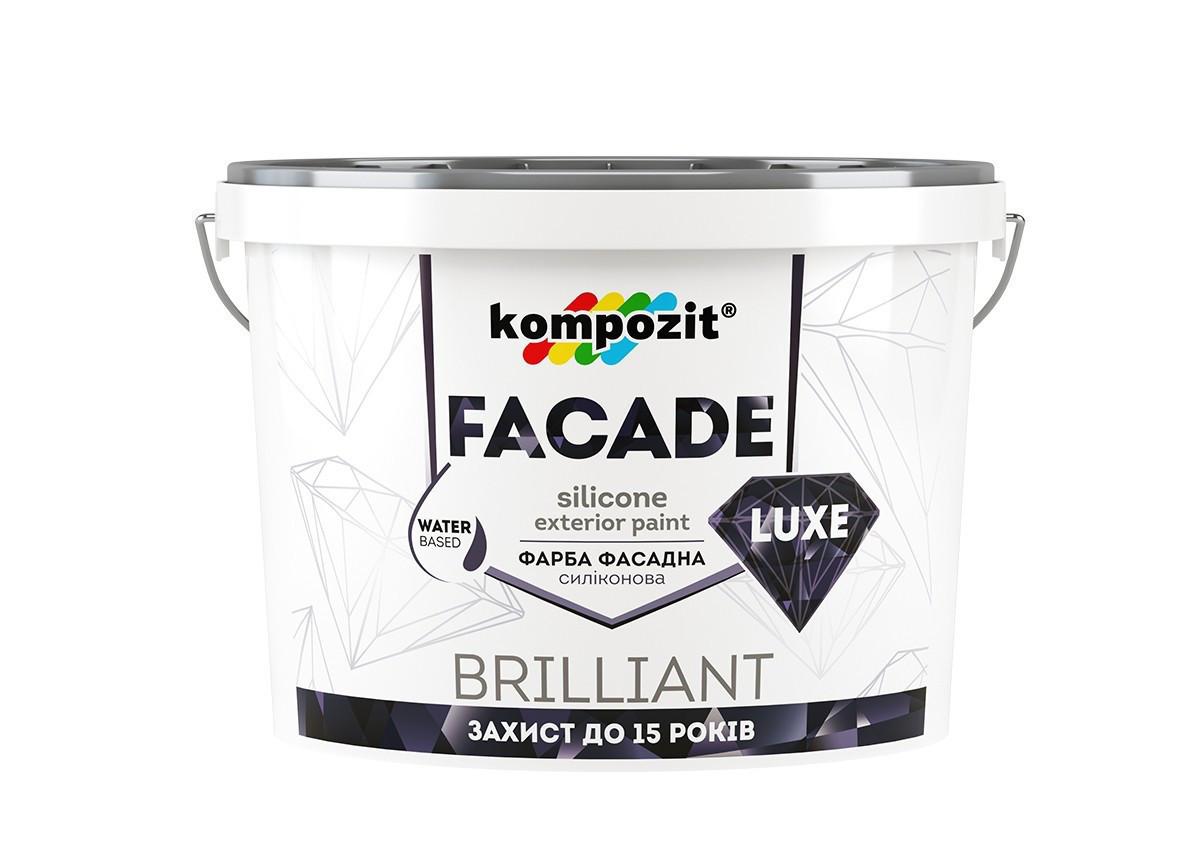 Краска фасадная силиконовая Kompozit FACADE LUXE ( 4.2 кг)  (База - С)