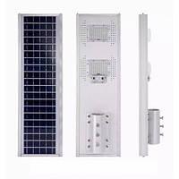 Світлодіодний вуличний світильник 100 W з сонячною панеллю і датчиком руху