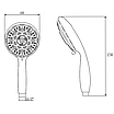 Ручной душ Invena Palia AS-57-001 хром, фото 2