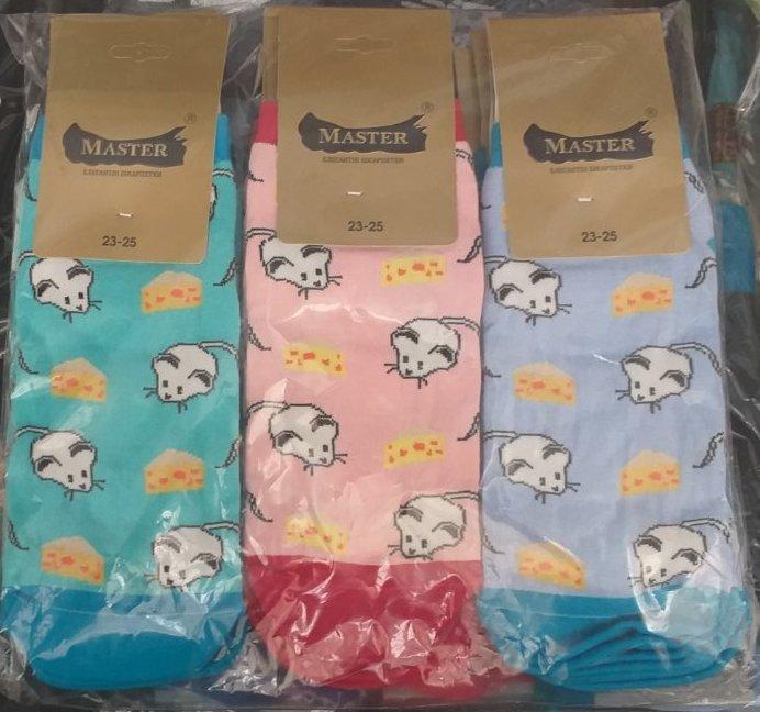 Красивые демисезонные носки с рисунком (12пар)