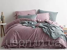Комплект постельного белья из вареного хлопка размер евро LIMASSO NATURAL VIOLETT BAGCIK