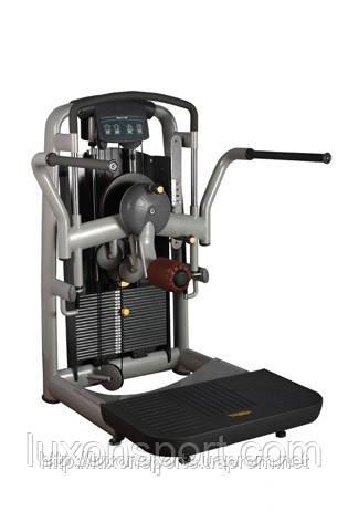 Грузоблочный тренажер для приводящих и отводящих мышц бедра стоя