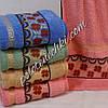 Махровое банное полотенце Лютики