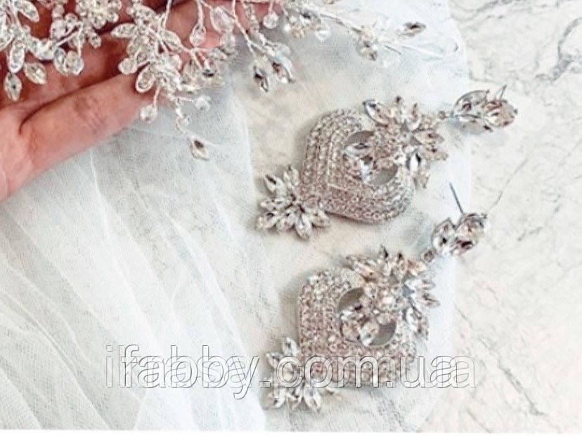 Романтичні сережки 7 см