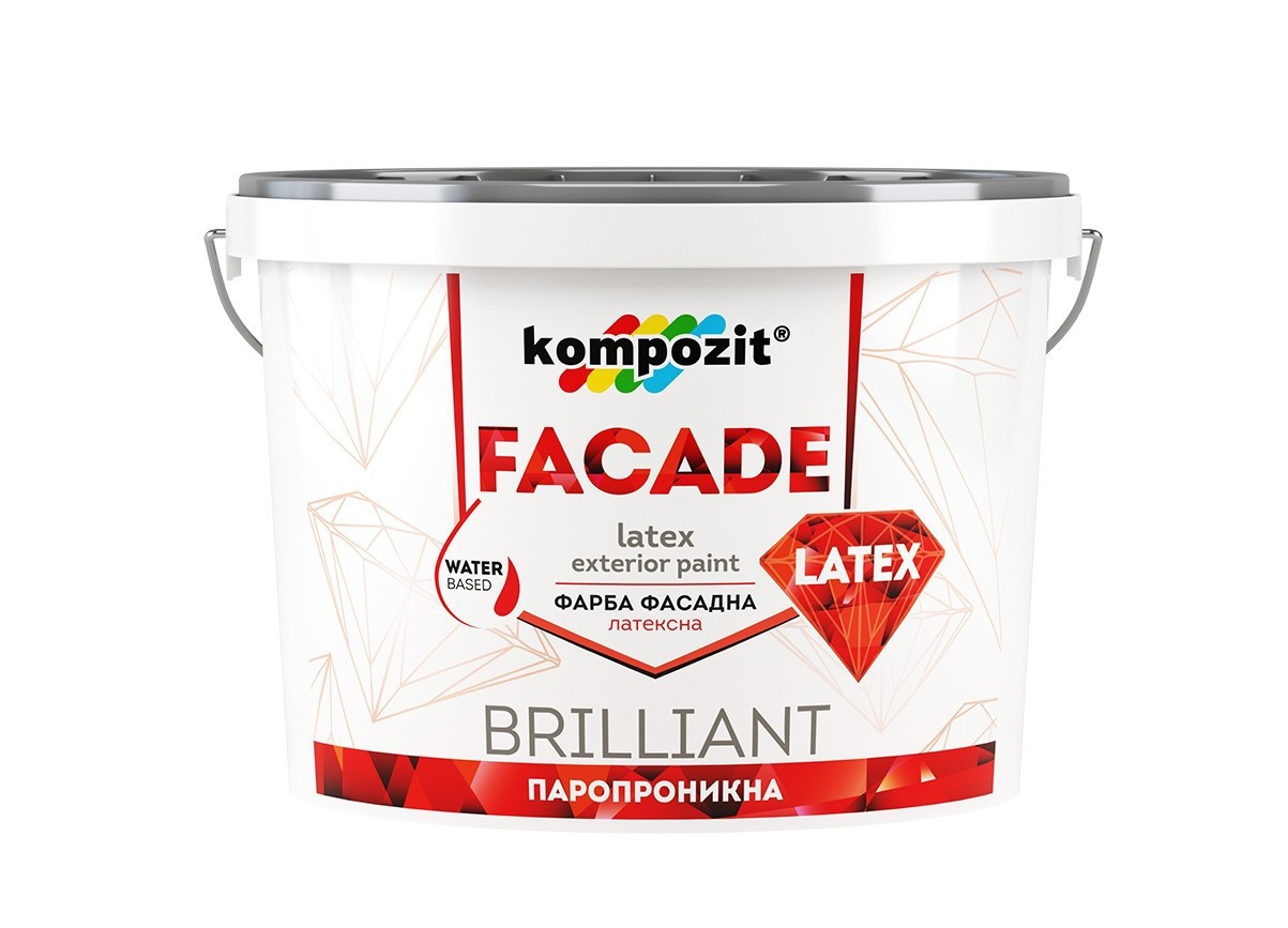 Фасадная краска Kompozit FACADE LATEX (14 кг)