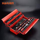 Профессиональный набор инструмента для дома в металлическом кейсе, 77 пр. Harden Tools 510777, фото 3