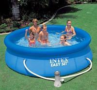 Бассейн надувной Intex 28112 фильтр-насос, размером 244х76см, объём: 2420 л