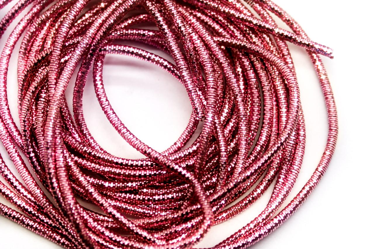 Тяганина фігурна 4-гран Трунцал, d-1.5 мм, Колір Рожевий, Ціна за 6 грам.