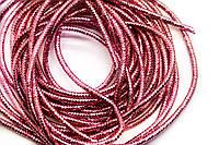 Канитель фигурная 4-гран Трунцал, d-1.5мм, Цвет Розовый, Цена за 6 грамм.