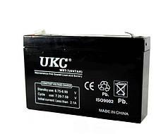 Аккумулятор аккумуляторная батарея UKC WST-7 6V 7Ah
