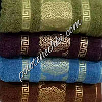 Махровое банное полотенце Круглый узор