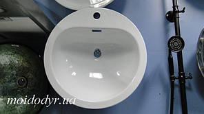 Врезная кухонная мойка Norma эмалированная 490 мм белая
