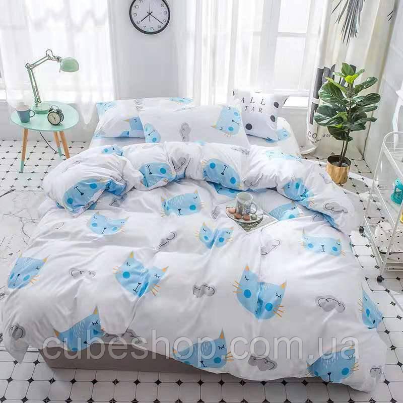 Полуторный комплект постельного белья Sleeping cat (поликоттон)