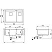 Мойка для кухни гранитная Aquasanita Delicia SQD-150AW-601 черный металлик, фото 3